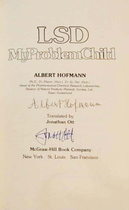Albert Hofmann My Problem Child Back